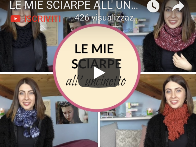 Le mie sciarpe all'uncinetto