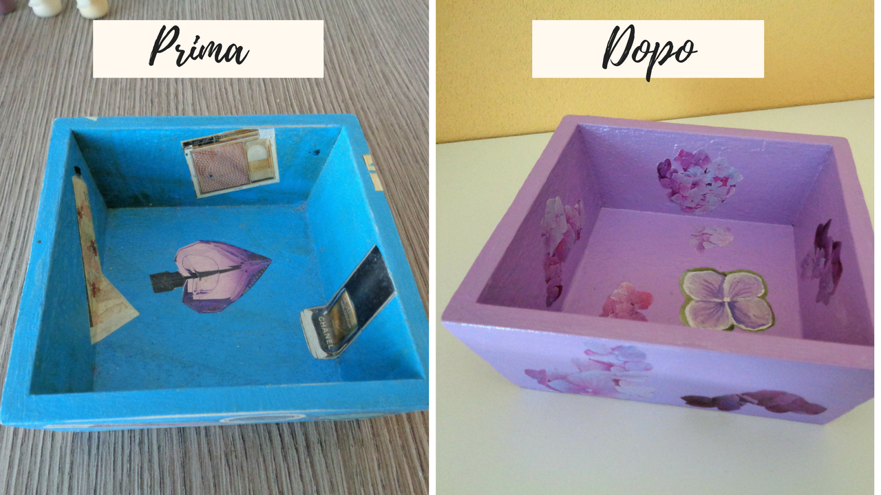 My Home: Restyling svuota tasche con il decoupage