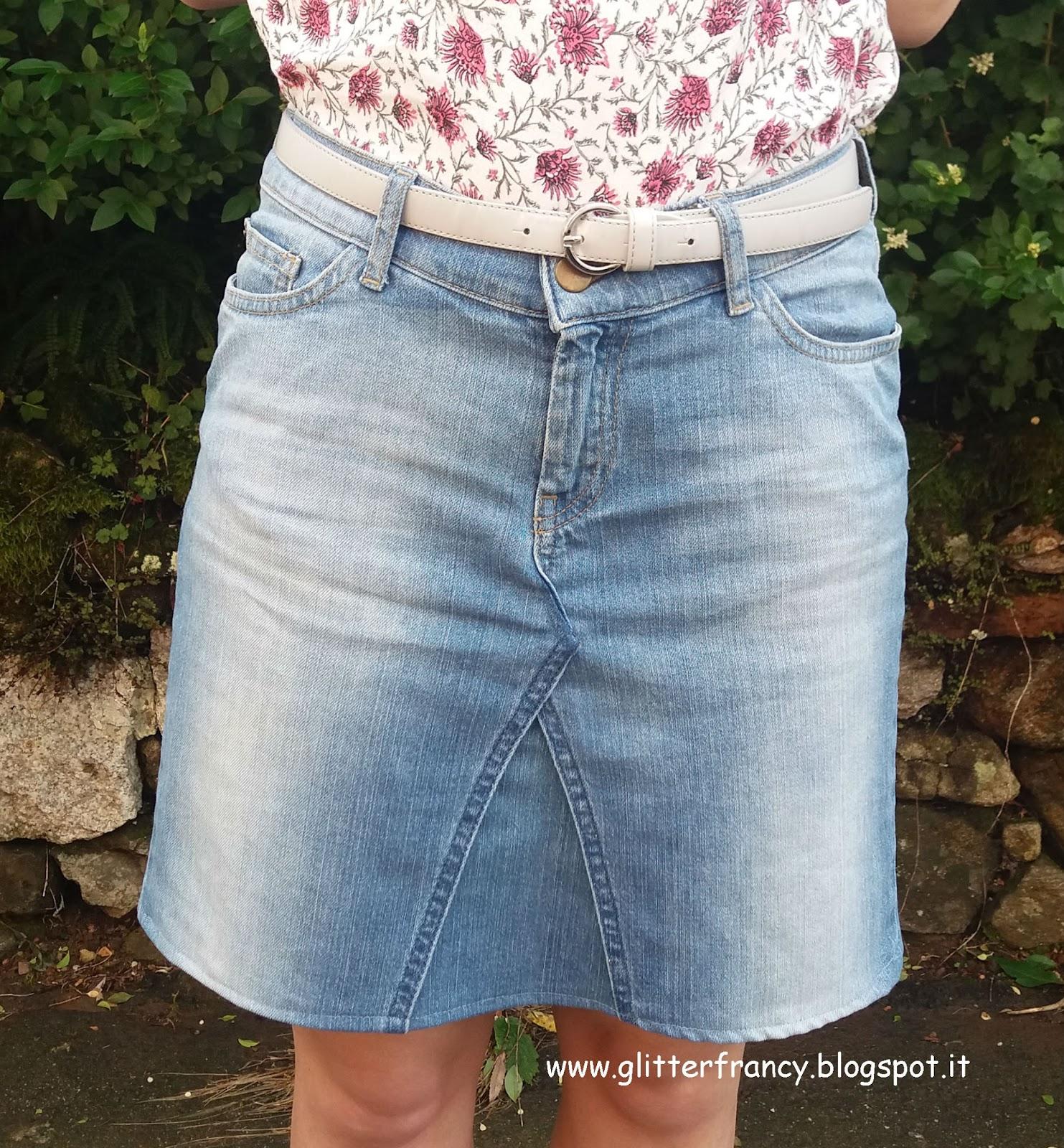 #1 Trasformare un paio di jeans in una gonna