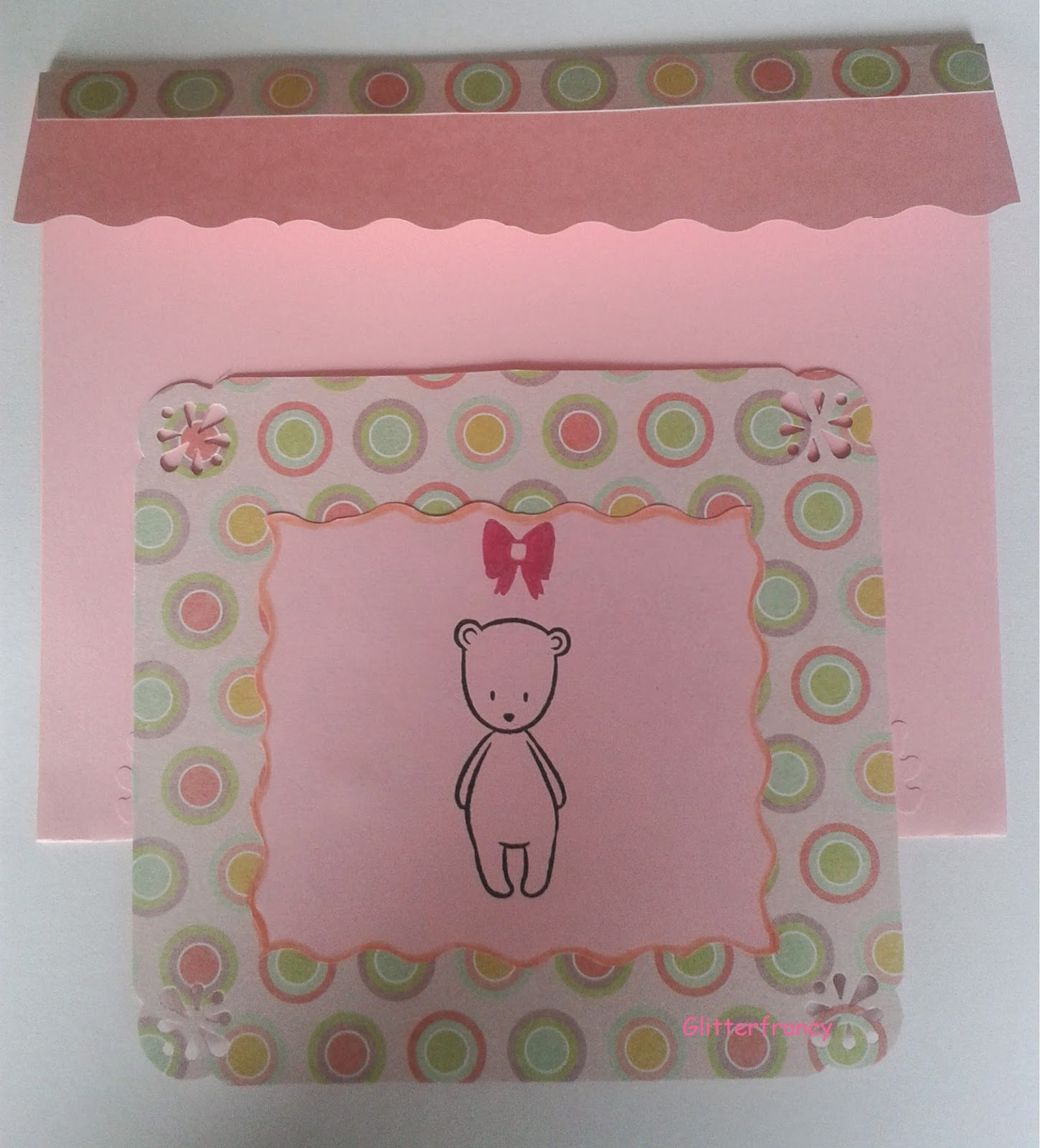 #2 Card nascita bimba con lo scrapbooking
