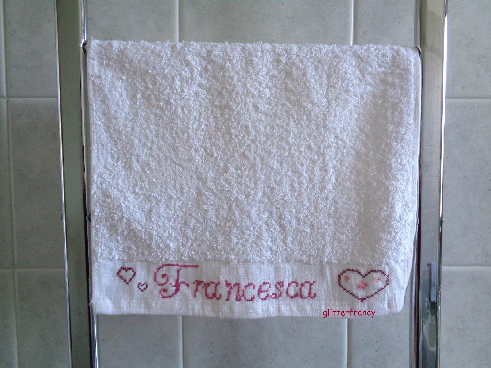 Asciugamano personalizzato a punto croce