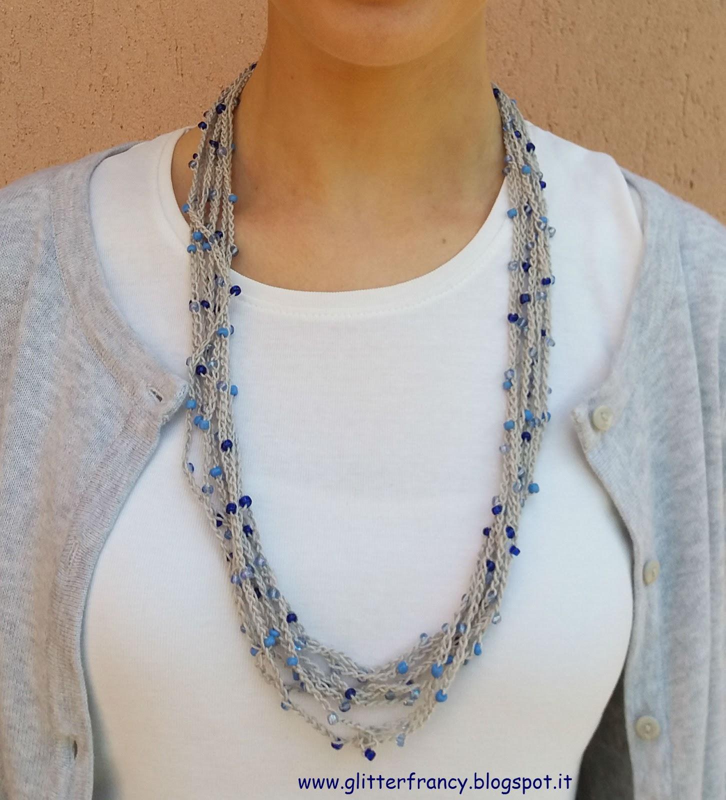 Collana Di Catenelle E Perline Laboratorio Di Stile