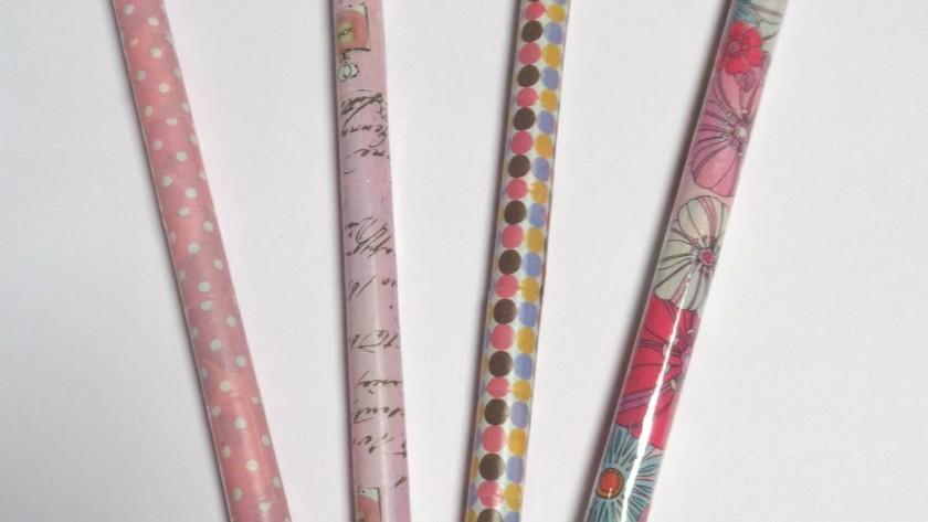 Come rinnovare le matite con i Washi Tape