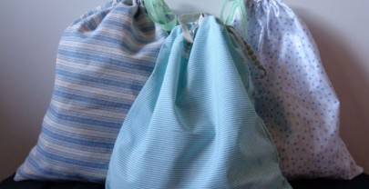 Si parte!!! Sacchetti in stoffa per l'organizzazione della valigia