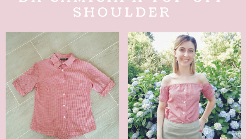 Come trasformare una camicia in un top off shoulder