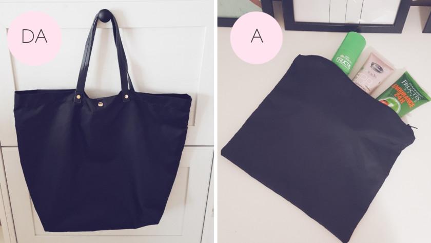 Come trasformare una borsa vecchia in una pochette