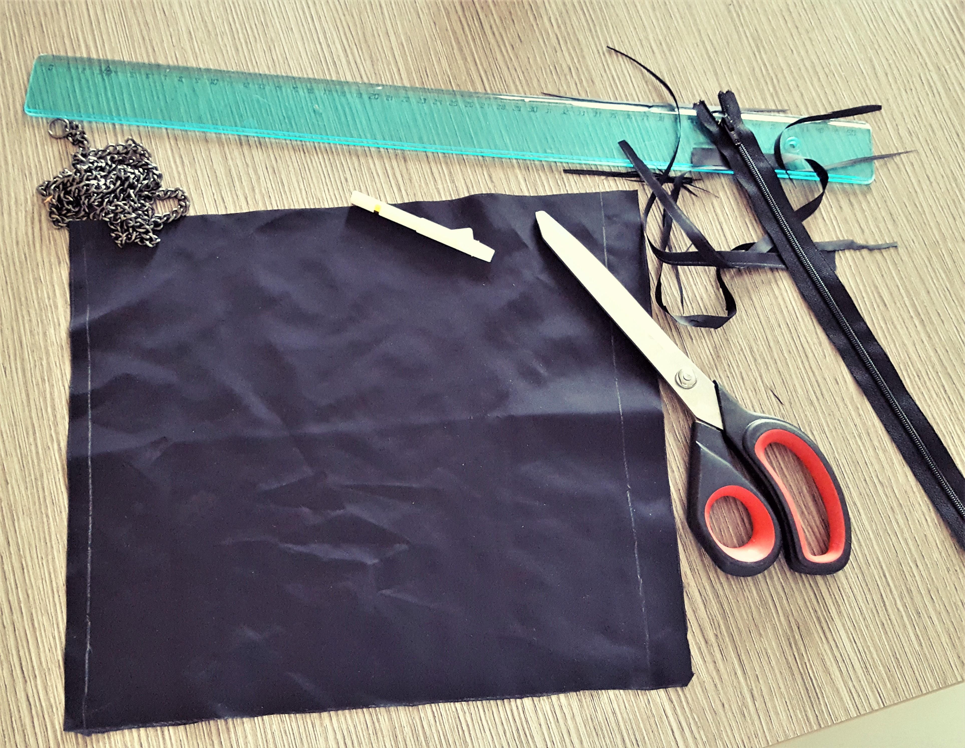 17758aa331 Come trasformare una borsa vecchia in una pochette - Laboratorio di ...
