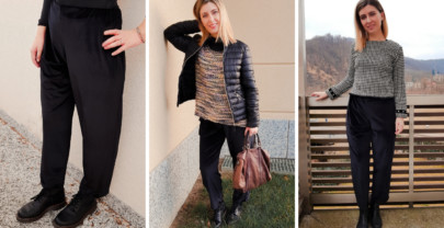 Paper bag pants modello Burda giovane & easy