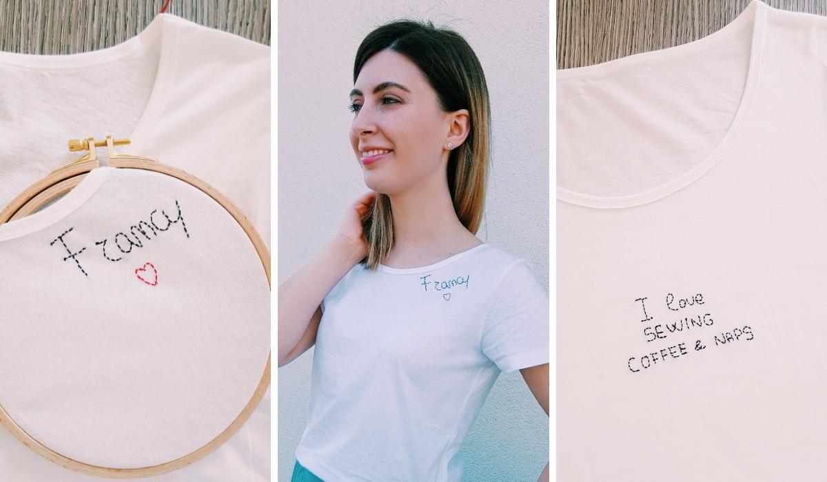 piuttosto fico vasta gamma di limpido in vista Personalizzare una t-shirt con un ricamo - Laboratorio di Stile