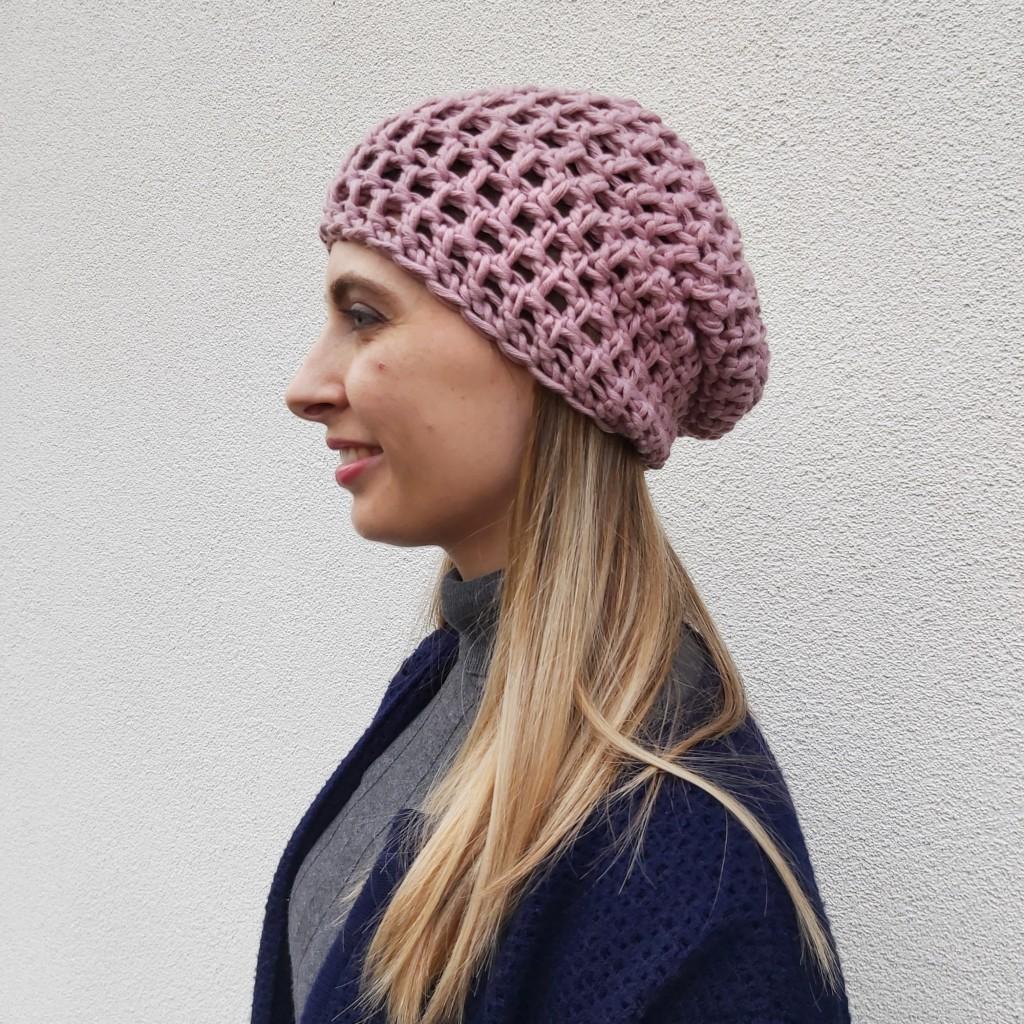 cappello all'uncinetto per principianti in 30 minuti con la lana grossa