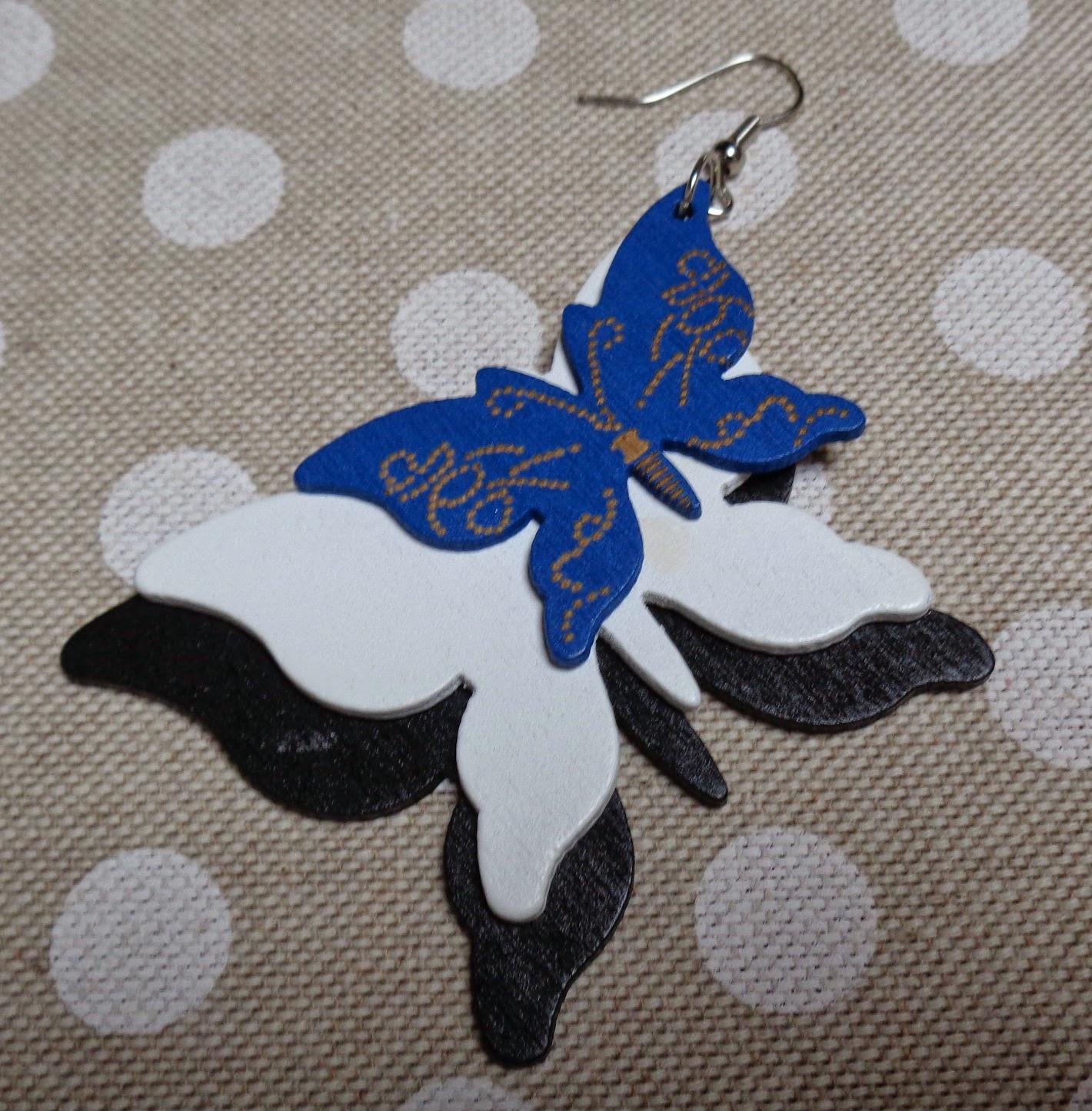 Farfalle Fai Da Te portachiavi fai da te con farfalle in legno e perline