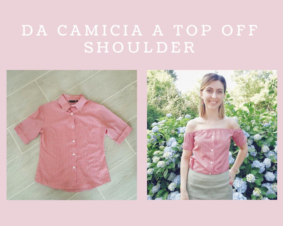 Come trasformare una camicia in un top off shoulder
