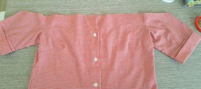 da camicia a top off shoulder - camicia tagliata