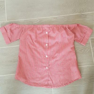 da camicia a top off shoulder - camicia con elastico