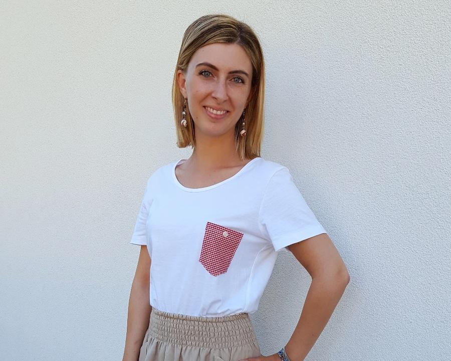 personalizzare una t-shirt con un taschino