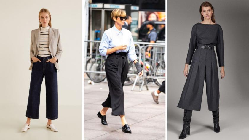 Come abbinare i pantaloni culotte: idee per l'autunno